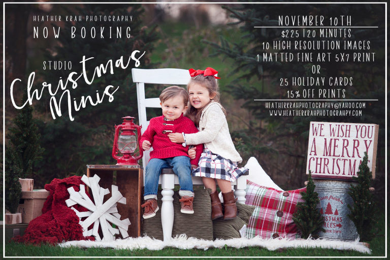 Christmas Mini Sessions.2018 Christmas Mini Sessions Heather Krah Photography
